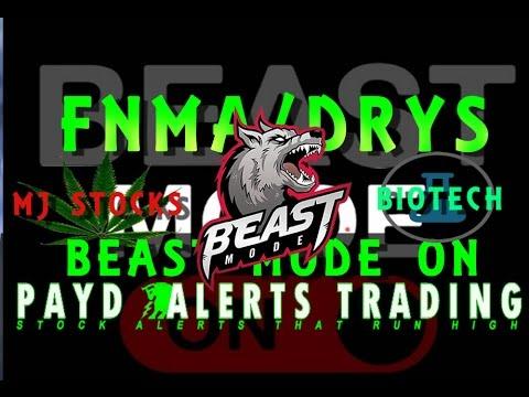 Profit From Beast Mode Stocks FNMA Fannie Mae & DRYS Dryships Inc Com