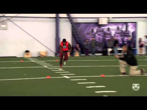 Football: Dezmin Lewis at Pro Day