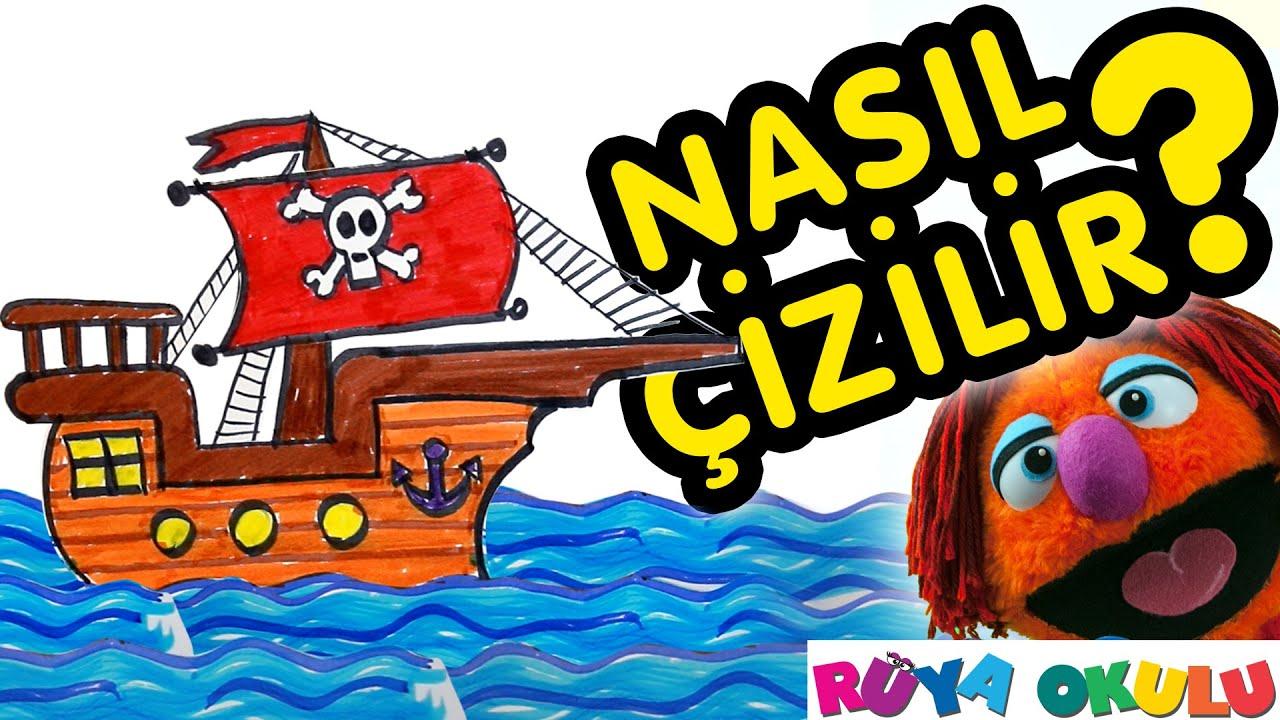 Nasıl çizilir Korsan Gemisi çocuklar Için Resim çizme Rüya