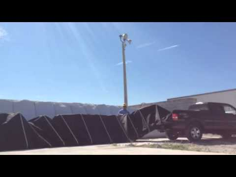 FLood Fighting, Flood Barrier Bag Protection system, 50 ft in 50 sec. Flash Flood-control Barrier