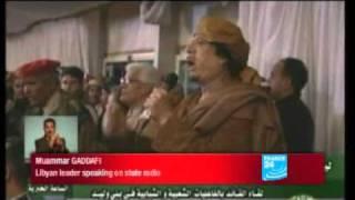 Libyan leader Muammar Gaddafi warns Benghazi residents.
