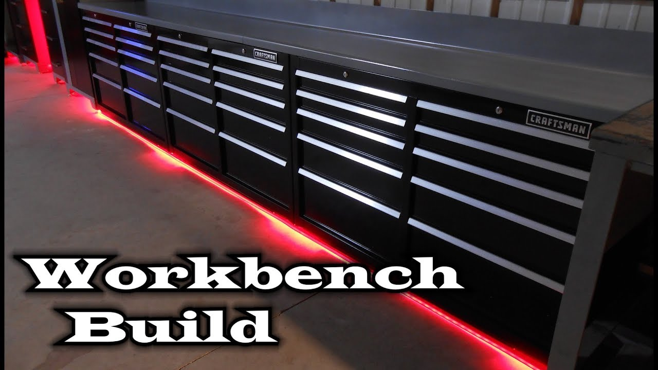 Ultimate Workbench Build Craftsman Toolboxes Youtube