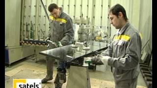Герметизация стеклопакетов(Герметизация стеклопакетов, на производстве пластиковых окон из профиля VEKA, компании Satels. Подробнее о..., 2012-06-01T08:57:06.000Z)