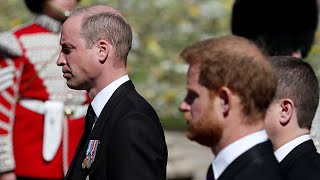 Prince William and Prince Harry Reunite at Prince Philip's Funeral