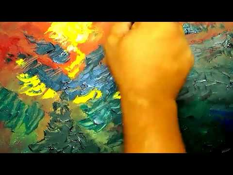 Art and Craft Ideas /Abstract/Palette knife and Brush/Acrylic Abstract Painting Tutorials #05