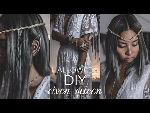 DIY Halloween Costume: Elf Queen (How To Make Elven Ears, Twisted Crown & Leaf Cuffs)