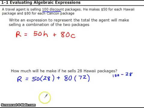 Write and evaluate expressions word problem