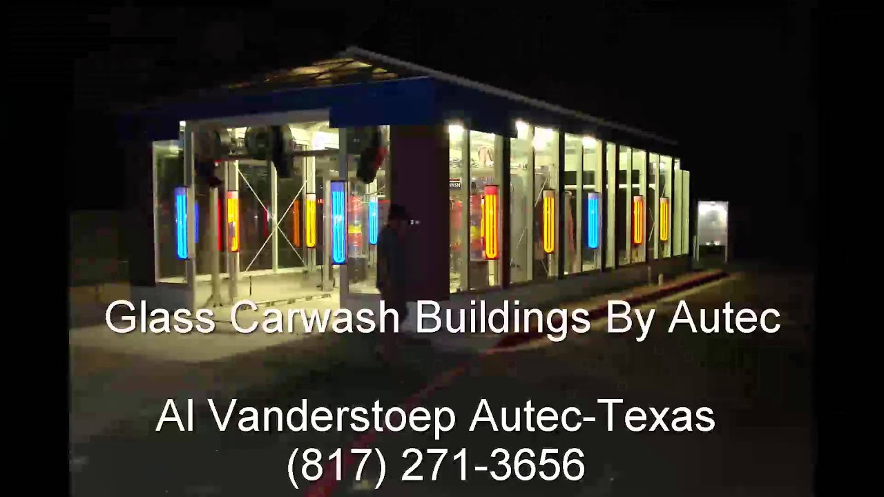 glass car wash buildings