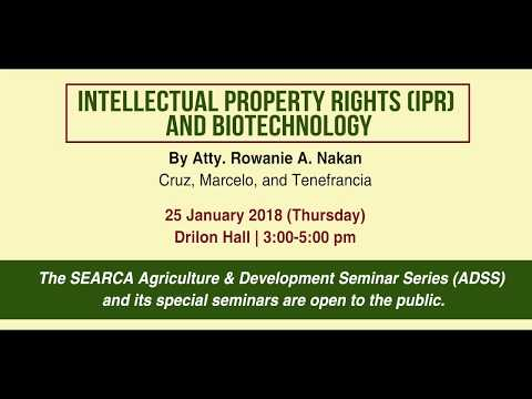 Intellectual Property Rights and Biotechnology