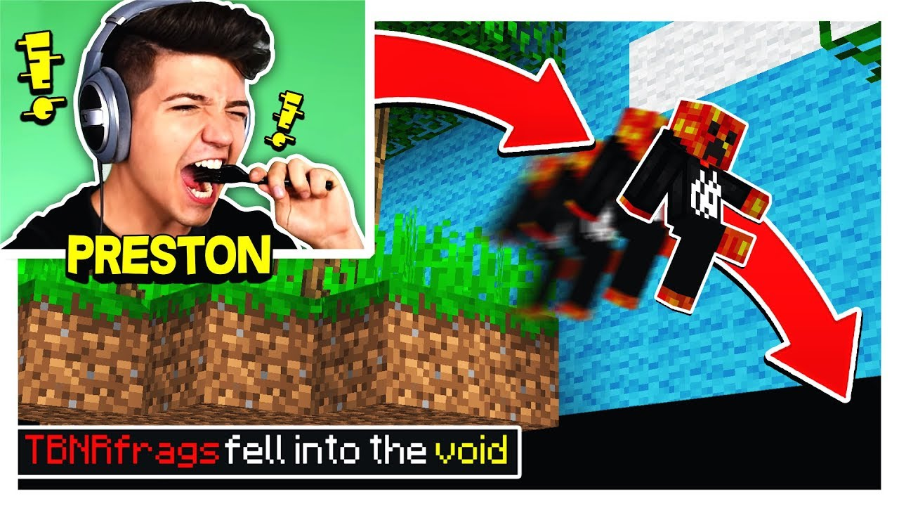 PRESTONPLAYZ RAGES AT MINECRAFT PARKOUR!