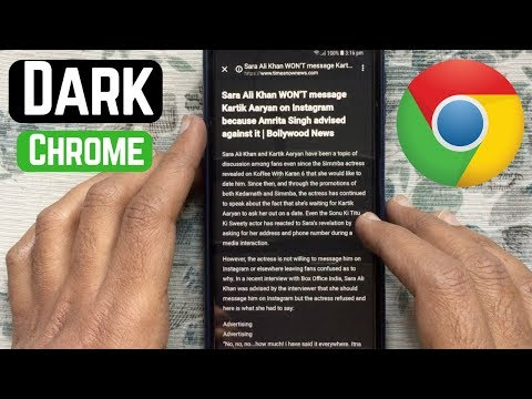 How To Enable DARK MODE For Simplified View On Chrome (Android)