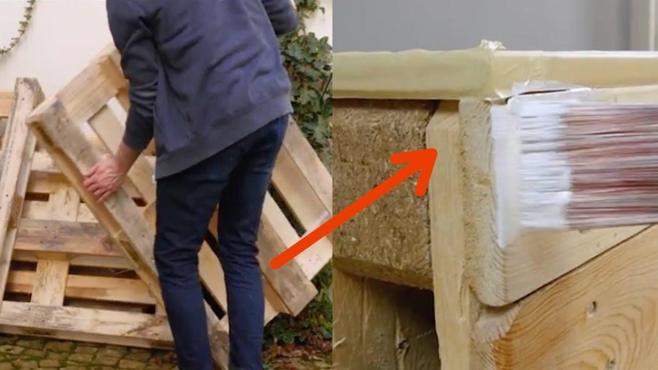 Sommerküche Aus Paletten : Diesen knaller kannst du aus 4 alten paletten bauen. youtube