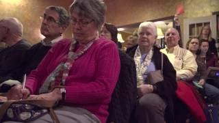 Rep. Dave Brat addresses fiery crowd at town hall