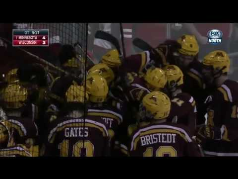 Justin Kloos Scores OT Goal In 4-3 Win At Wisconsin!