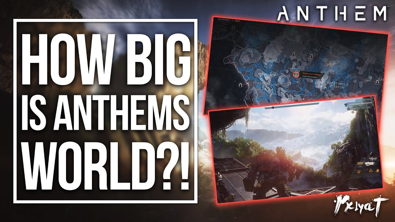 Open World Map Sizes.How Big Is Anthem S World Anthem Game Map Size Youtube
