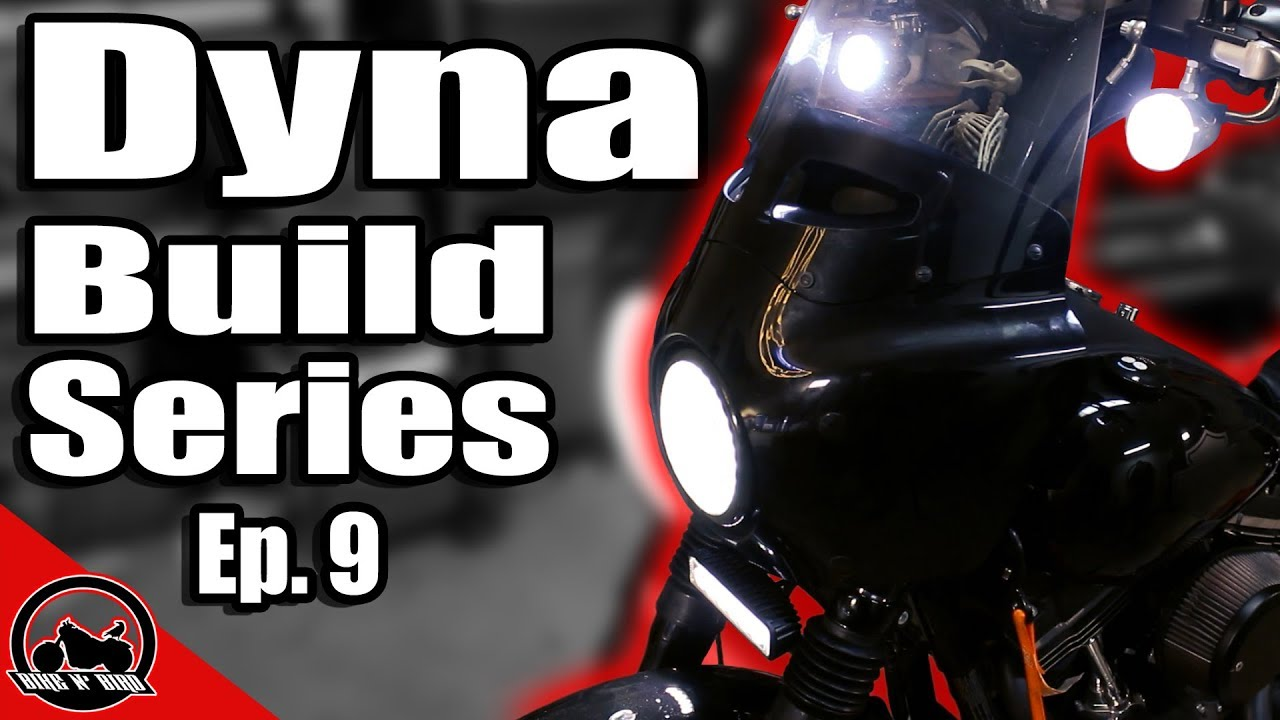 Harley Dyna Build Series Ep. 9 - L.E.D. Lightbar and Turn Signals on