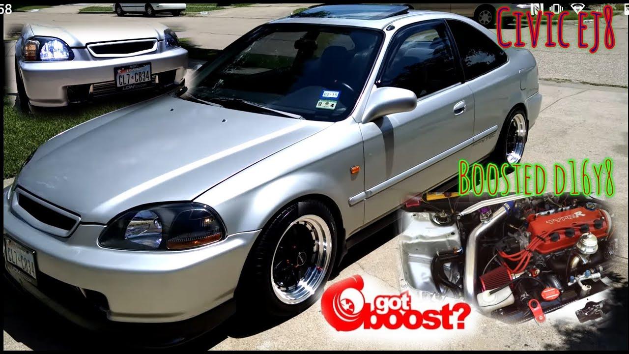 My 97 Civic Ex D16y8 Vtec Turbo 8 Psi Youtube