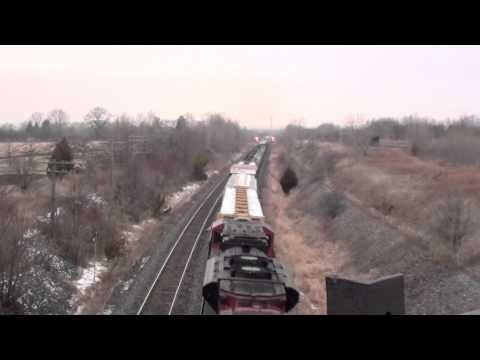 Railfanning Newtonville, ON at East Townline Rd. and Lovekin, ON at Lakeshore Rd. part 3. 12/30/2010