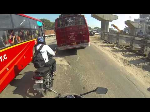Raja Rajeshwari Nagar to Maynata Tech Park (Bangalore) on CBR 250R shot by GoPro