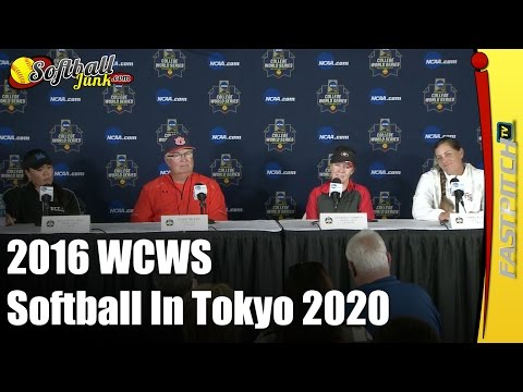 2016 WCWS Press Conference Session 2 Softball In Tokyo 2020 Olympics