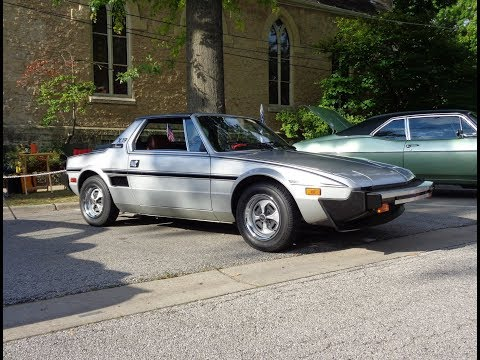 "1979 Fiat X1/9 X19 Targa "" Survivor "" In Silver & Engine Sound On My Car Story With Lou Costabile"