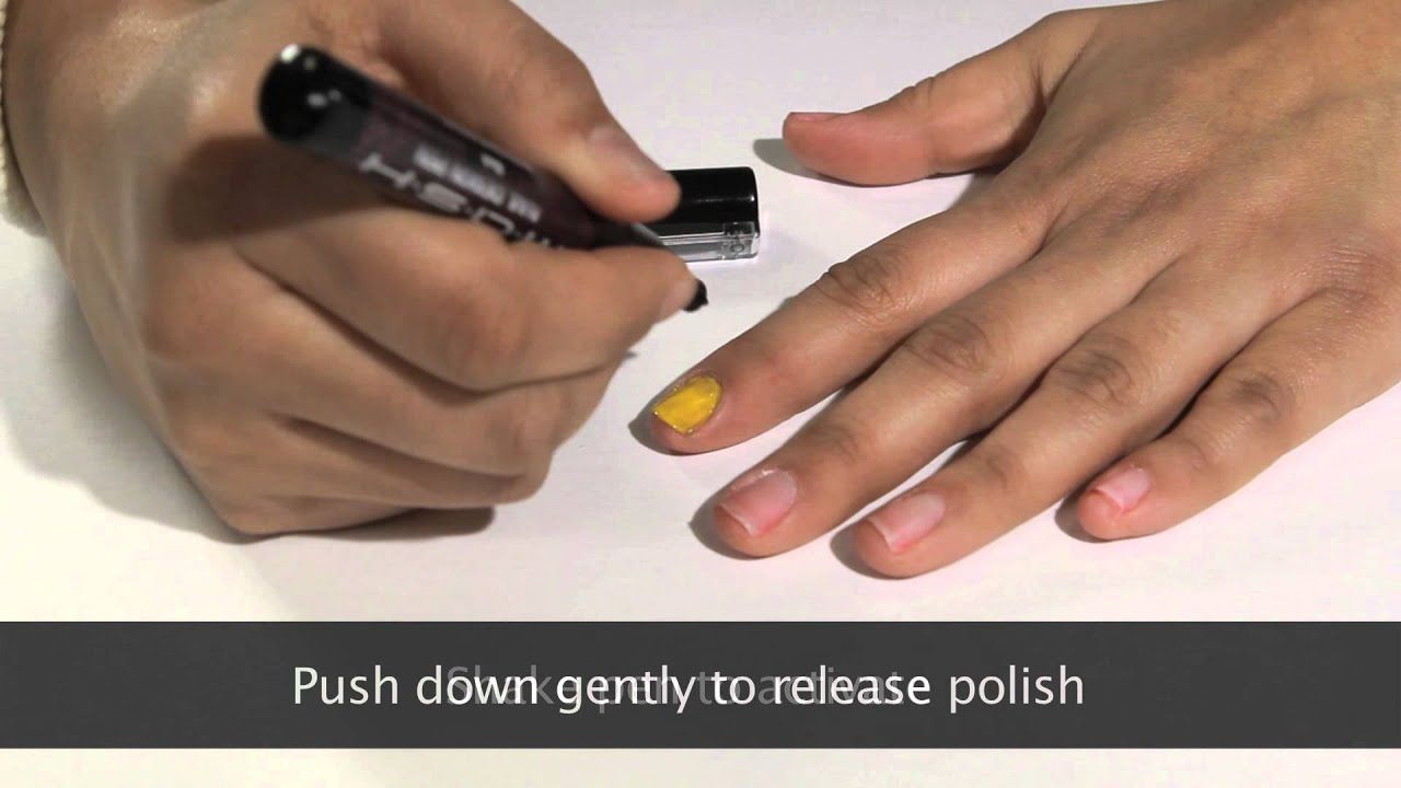 MASH Nails Nail Art Pen Demonstration Video - YouTube