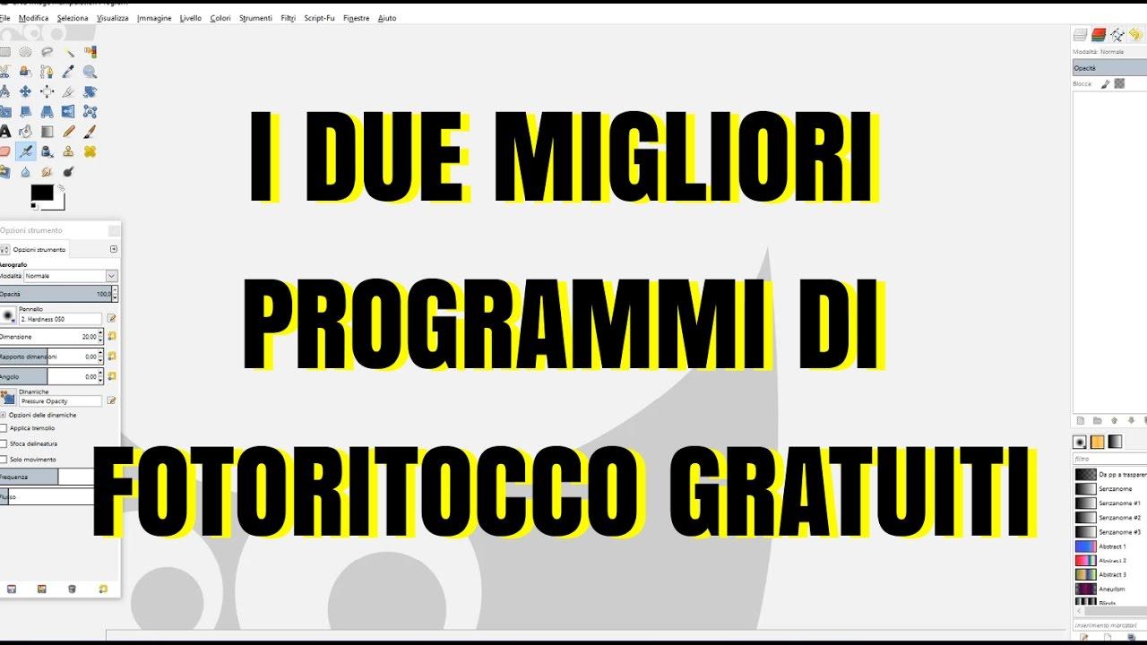 programmi fotoritocco gratis in italiano