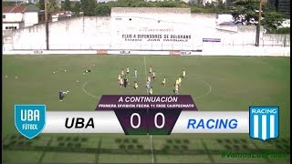 UBA 2 - 2 Racing | #VamosLasPibas | Fútbol Femenino