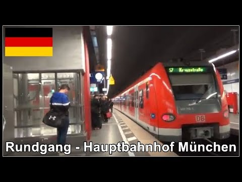 Walk through Munich Central Station / Rundgang am Bahnhof München