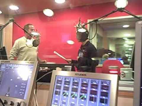 MASSIMO LOPEZ IMITATES RADIO GURU DAN O'DAY AT R101 Milan Italy