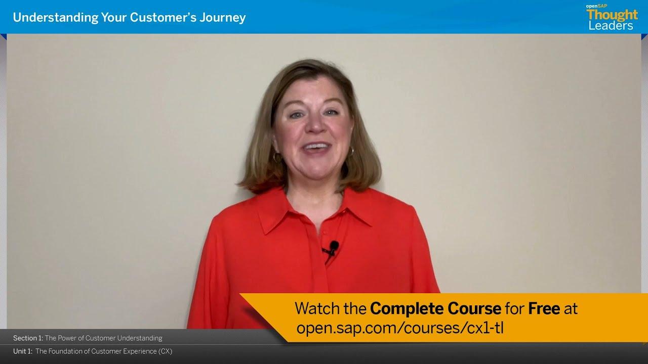 Understanding Your Customer's Journey openSAP