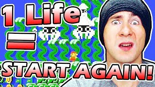 1 LIFE LOST = START OVER // Super Mario Maker 100 Mario NORMAL Mode Special Challenge