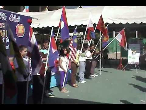 Wat Song Plu School ASEAN let us move ahead p 2 English Camp Day 2
