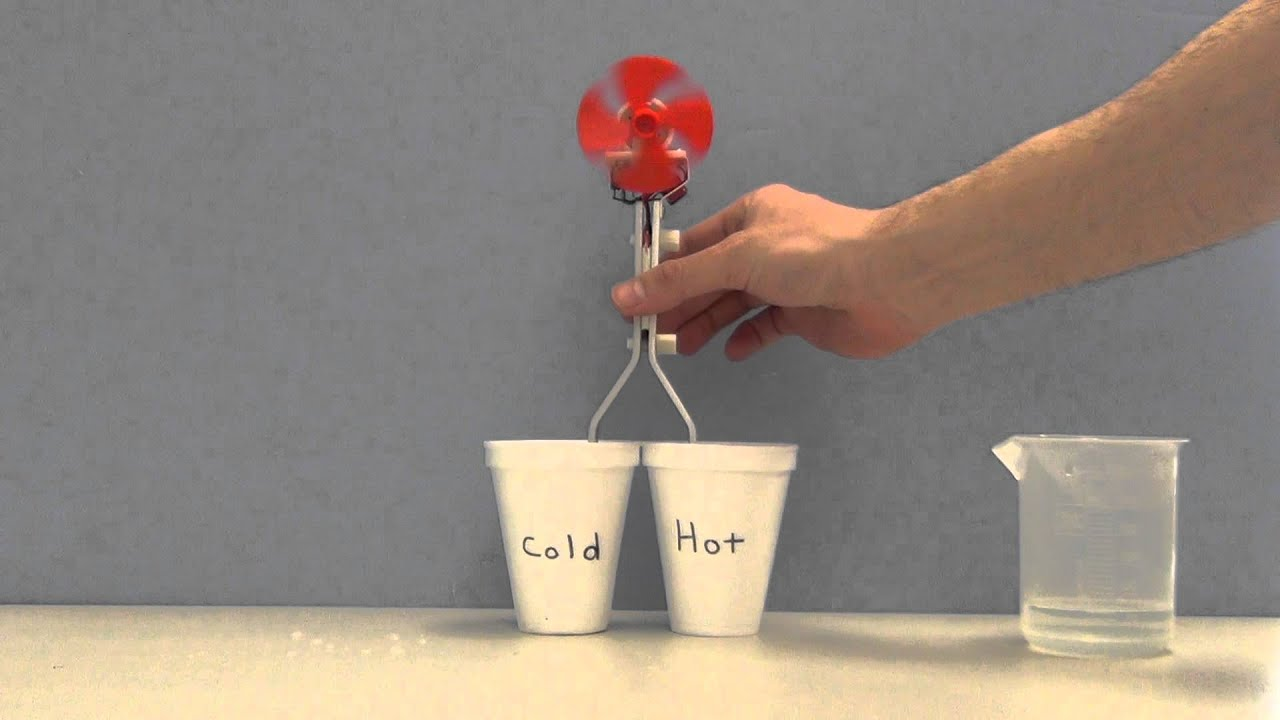 Thermoelectric Effect Demonstration Demonstrator - YouTube