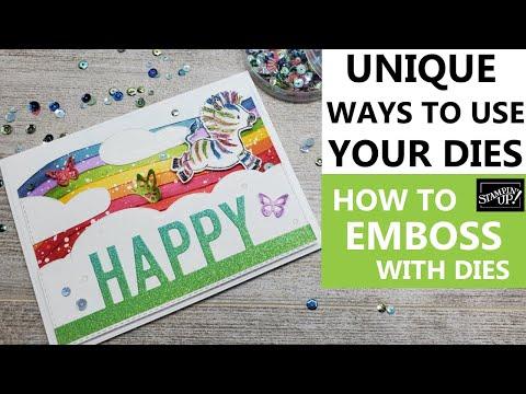 🦓Unique Ways to use your dies | How to Emboss with Stampin Up Dies | Die Cutting Tricks | Stampin UpKaynak: YouTube · Süre: 14 dakika21 saniye