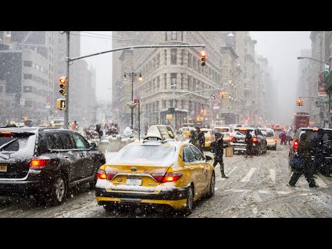 NEW YORK CITY 2018: WINTER has NO MERCY! [4K]