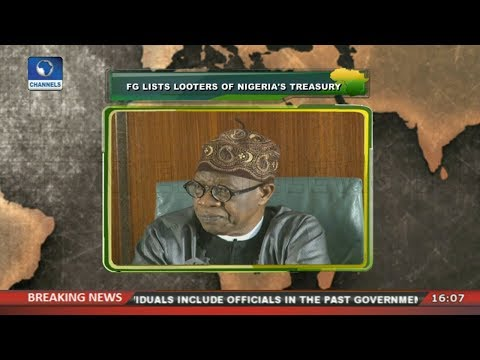FG Lists Looters Of Nigeria's Treasury |Network Africa|