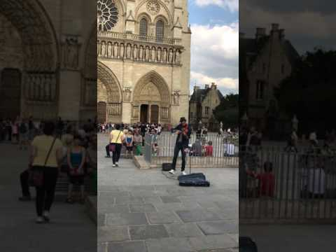 DESPACITO violin cover - Notre Dame Cathedral, Paris