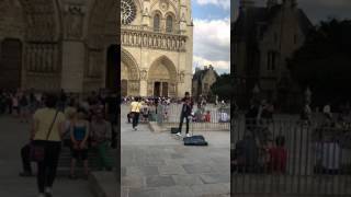 vuclip DESPACITO violin cover - Notre Dame Cathedral, Paris