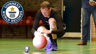 Most basketball bounces - Guinness World Records