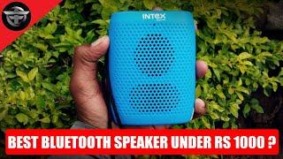 Intex Muzyk B10 Bluetooth Multimedia Speaker Full in Dept Review in Hindi - Technology Dunia