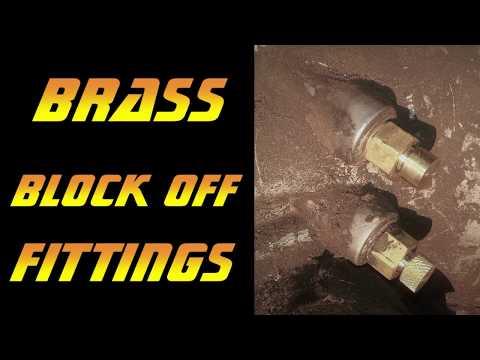 Brass Block Off Fittings | Metal Lathe Project