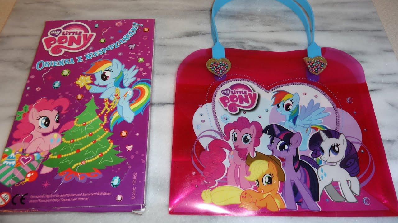 Little Pony Surprise Toys Xmas Advent Calendar For Girls Unboxing