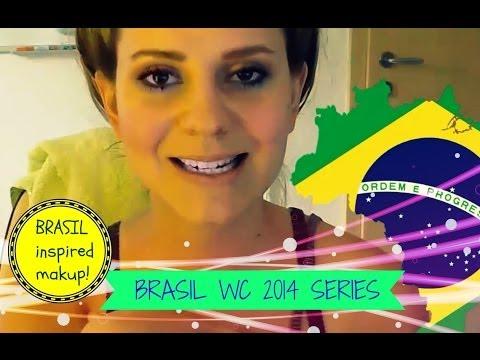 Brasil Series WC 2014 - Soccer teams inspired makeup tutorials! BRASIL