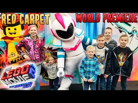 LEGO Movie 2 Red Carpet Premier and Party! HUGE Flood in Hol
