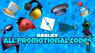 ROBLOX | ALL PROMOTIONAL CODES [2018]