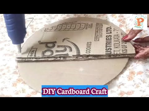 Diy key holder using waste cardboard | Best out of waste paper craft | Easy wall mount home decor