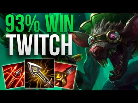 UNBELIEVABLE 93% WIN RATE CHALLENGER TWITCH | CHALLENGER TWITCH JUNGLE GAMEPLAY | Patch 9.19 S9