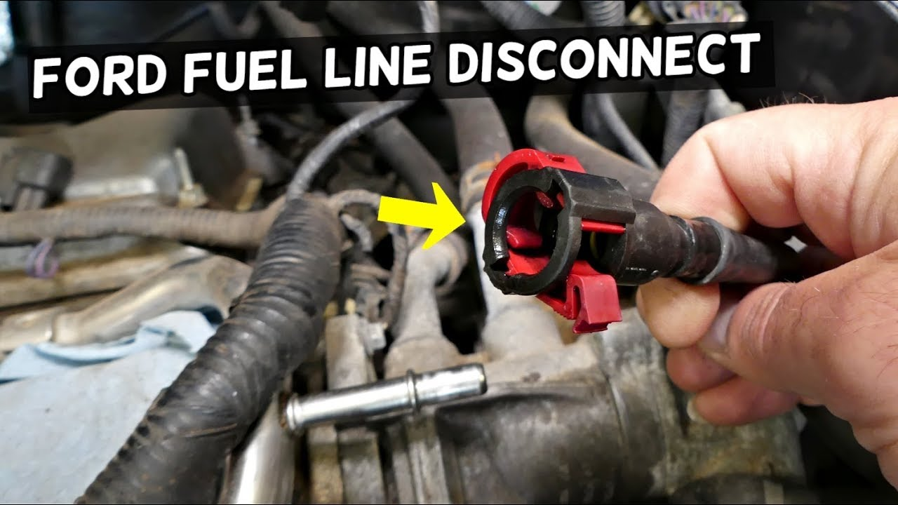 HOW TO DISCONNECT FUEL LINE ON FORD EDGE FUSION TAURUS EXPLORER FLEX F150  LINCOLN MKX MKZ - YouTubeYouTube
