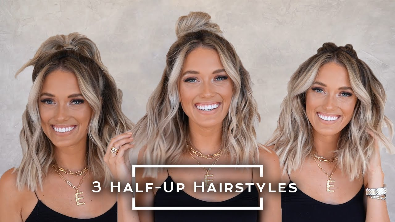 3 Amazing Half-Up Hairstyles! | Hair By Chrissy